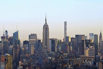 Photograph - Manhattan Sunrise In December by Harvey Barrison
