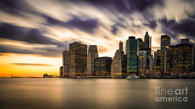 Photograph - Manhattan Sunset Bursting by Alissa Beth Photography