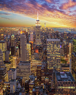 Photograph - Manhattan Sunset by Jakob Dahlin