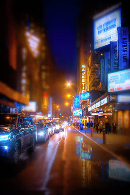 Photograph - Manhattan Theater District by Mark Andrew Thomas