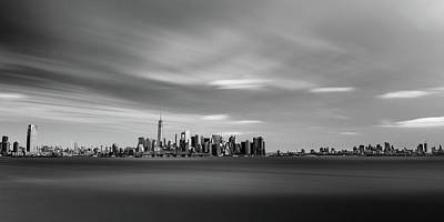 Photograph - Manhattan Towers Over Ellis Island by Mark Robert Rogers