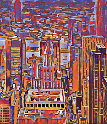 Painting - Manhattan Urban Abstract by Dan Sproul