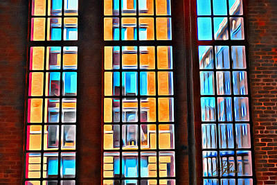 Painting - Manhattan Windows by Joan Reese