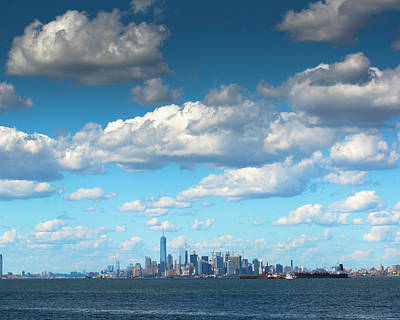 Photograph - Manhattan With Clouds by Kenneth Cole