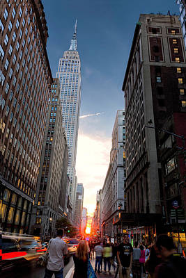 Photograph - Manhattanhenge At 34th St. by Fran Gallogly