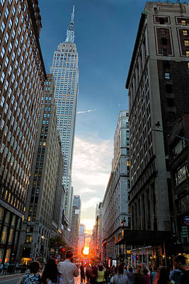 Photograph - Manhattanhenge by Fran Gallogly