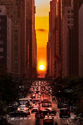 Photograph - Manhattanhenge In New York City by Mihai Andritoiu