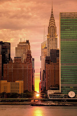 Photograph - Manhattanhenge by Mihai Andritoiu