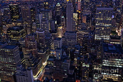 Photograph - Manhattan's Skyscrapers by Franz Zarda