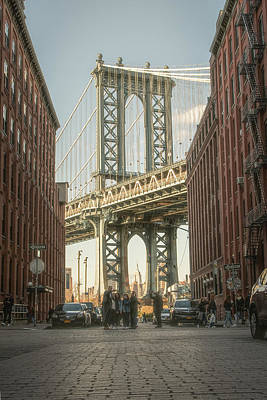 Photograph - Manhattan Bridge From Washington Street by Jesse MacDonald