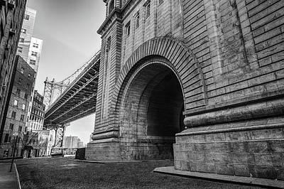 Manhatten Bridge New York Art Print by Mike Burgquist