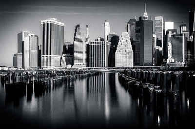 Photograph - Manhatten Skyline by Alan Raasch