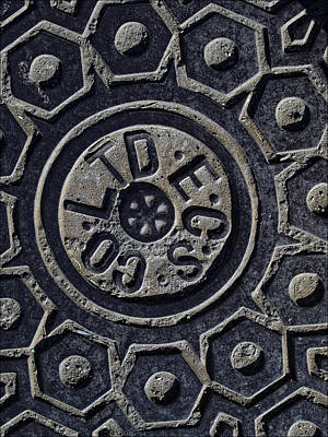 City Scenes - Manhole Cover NYC by Robert Ullmann