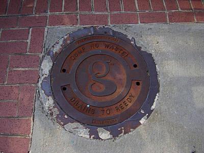 Photograph - Manhole II by Flavia Westerwelle