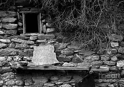 Photograph - Mani Stone - Dolpo Region Nepal by Craig Lovell