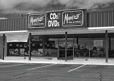 Photograph - Manifest Cds And Dvds B W by Joseph C Hinson Photography
