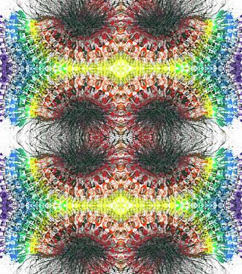 Joy Mixed Media - Manifestations Of The Vibrational Energy #1435 by Rainbow Artist Orlando L aka Kevin Orlando Lau
