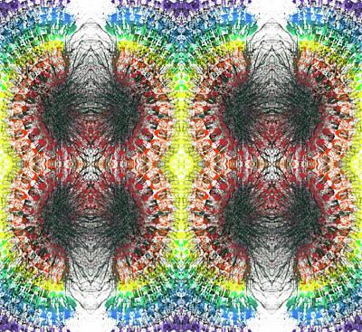 Joy Mixed Media - Manifestations Of The Vibrational Energy #1437 by Rainbow Artist Orlando L aka Kevin Orlando Lau