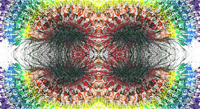 Joy Mixed Media - Manifestations Of The Vibrational Energy #1438 by Rainbow Artist Orlando L aka Kevin Orlando Lau