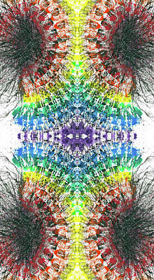 Joy Mixed Media - Manifestations Of The Vibrational Energy #1439 by Rainbow Artist Orlando L aka Kevin Orlando Lau