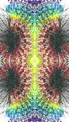 Joy Mixed Media - Manifestations Of The Vibrational Energy #1440 by Rainbow Artist Orlando L aka Kevin Orlando Lau