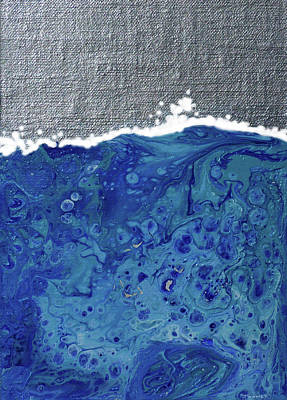 Painting - Manifesto 3.0 Wave And Silver Sky by Catherine Twomey