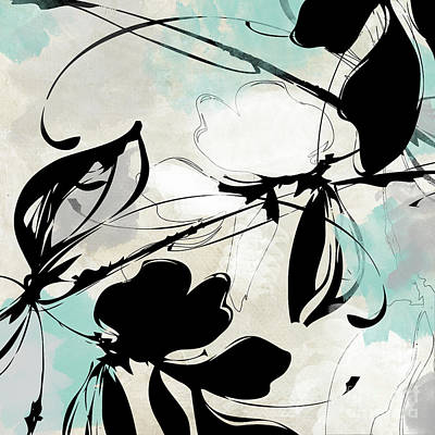 Abstract Flowers Royalty-Free and Rights-Managed Images - Manifesto Aqua by Mindy Sommers