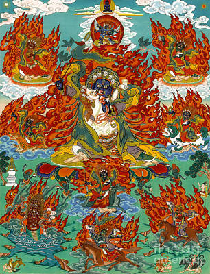 Maning Mahakala With Retinue Art Print