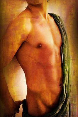 Male Digital Art - Manipulation In Yellow by Mark Ashkenazi
