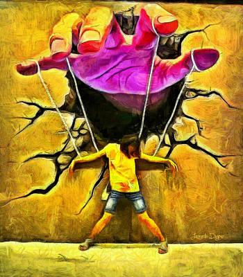 Mauve Painting - Manipulation by Leonardo Digenio