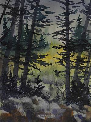 Manistee National Forest,  Watercolor Painting Print by David K Myers