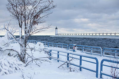 Photograph - Manistee Pierhead Light by Fran Riley