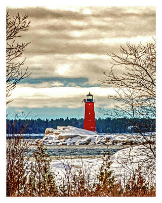 Photograph - Manistique Lighthouse by Trey Foerster