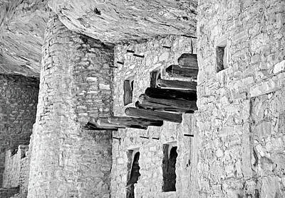 Photograph - Manitou Cliff Dwellings Study 4 by Robert Meyers-Lussier