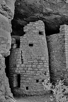 Photograph - Manitou Cliff Dwellings Study 8 by Robert Meyers-Lussier