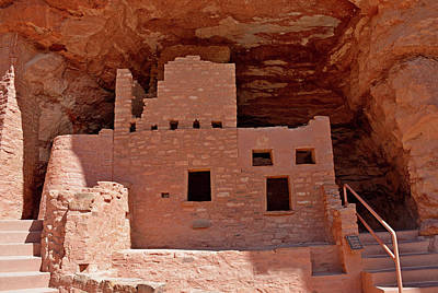 Photograph - Manitou Cliff Dwellings Study 9 by Robert Meyers-Lussier
