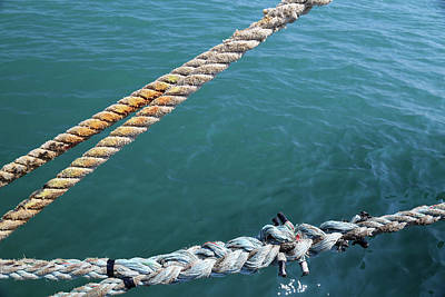 Photograph - Manitou Dock Ties 2 by Mary Bedy