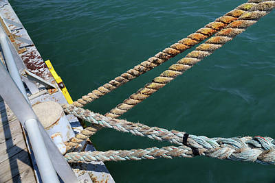 Photograph - Manitou Dock Ties by Mary Bedy