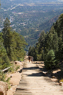 Steven Krull Royalty-Free and Rights-Managed Images - Manitou Springs Pikes Peak Incline by Steven Krull
