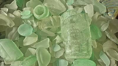Beachglass Photograph - Manitowoc Beach Glass by Catherine Egger
