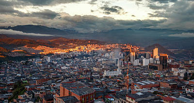 Photograph - Manizales Sunset Colombia by Adam Rainoff