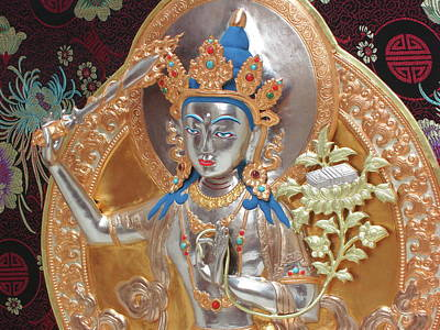 Sculpture - Manjushri by Martin Walker-Watson Gilding Arts Studio
