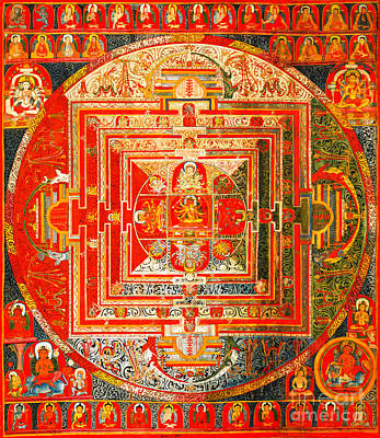 Painting - Manjuvara Thangka Mandala by Peter Gumaer Ogden