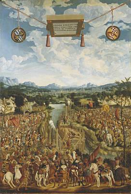 Manlius Torquatus Fighting A Gaul Art Print by Ludwig Refinger