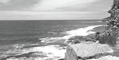 Black And White Photograph - Manly Beach No. 1 by Sandy Taylor