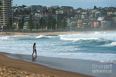 Photograph - Manly Beach In Atmospheric Evening Light by Andrew Michael