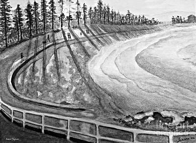 Painting - Manly Beach In Black And White by Leanne Seymour