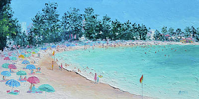 Painting - Manly Beach In January by Jan Matson