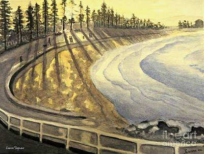 Manly Beach Sunset Art Print