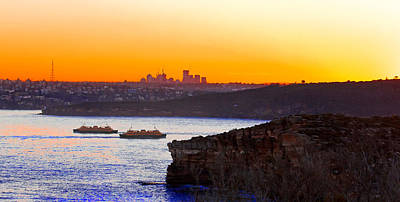 Photograph - Manly Ferries Passing Each Other by Miroslava Jurcik